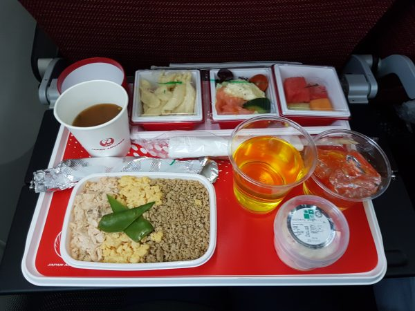 JAL in flight meal